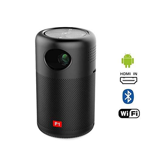 ALDD WiFi-Miniprojektor, tragbarer Taschenprojektor, DLP, 360 ° -Lautsprecher, tragbarer Miracast DLNA-Videoprojektor