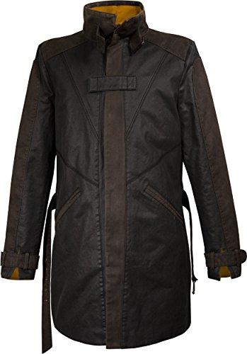 Musterbrand Watch Dogs Trench-Coat Mantel Herren Vigilante Aiden Pearce Jacke Braun (Dog Watch Kostüme)