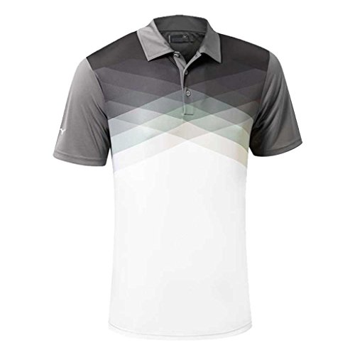 Mizuno Golf 2016 X Tint Argyle Drylite Performance Hommes Golf Polo Chemise