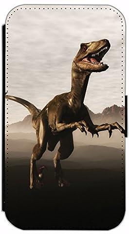 Kuna Flip Cover Design K517 Dinosaurier Raptor Dino für Samsung