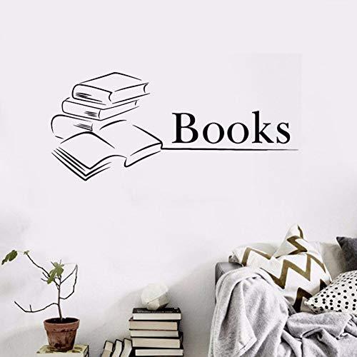 ZOUYUN Wandaufkleber bibliothek bücher wandtattoos Bildung Schule Vinyl buchhandlung tapete abnehmbare bücher Logo wandbilder Ay133 9 * 4Cm