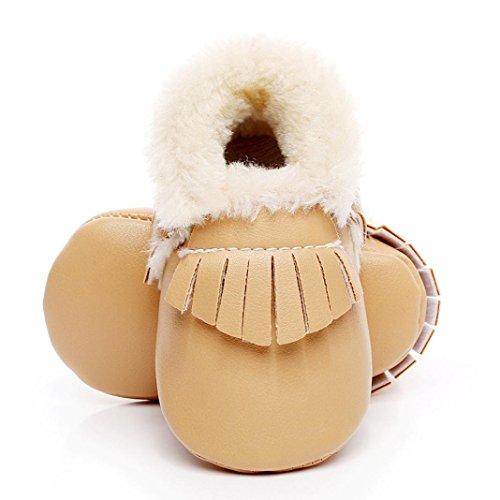 Baby Mädchen / Jungen Lauflernschuhe-Omiky® 0-18 Month Mädchen / Jungen Baumwolle Winter Baby Girl boys Kinder Schuhe Warme Schuhe Leder Gelb