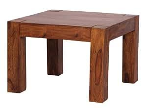 wohnling couchtisch massiv holz sheesham 60 cm breit wohnzimmer tisch design dunkel braun. Black Bedroom Furniture Sets. Home Design Ideas
