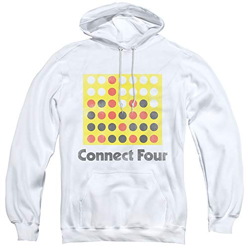 Yoga Clothing For You Connect Four Hoodie Vintage Logo White Hoody, Medium Toy Machine Hoody
