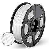 Enotepad PLA 3D imprimante Filament,PLA Filament 1.75mm,Précision dimensionnelle 1,75 ± 0,02 mm,PLA 1KG blanc (White)