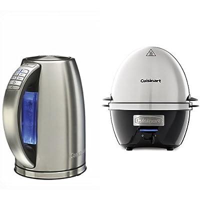 Cuisinart Bouilloire acier brossé, 6 températures préréglées, Maintien au chaud, 1,7 L