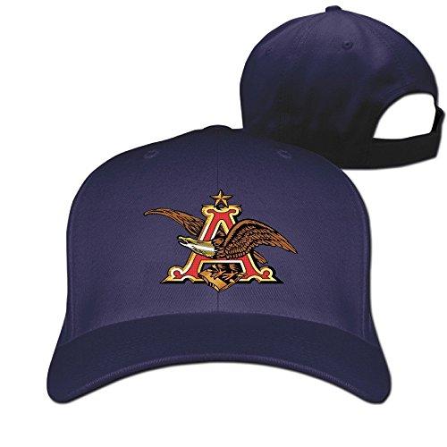 huseki-anheuser-busch-logo-hat-plain-baseball-cap-navy