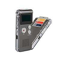 Multifunctional Rechargeable 8GB Digital Audio Voice Recorder Sound Recordin Portable Dictaphone MP3 Player-Grey