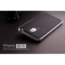 Meizu M2 Note Funda, Ipaky Protección interna TPU Flexible [Ultra Resistente] Marco Exterior Rígido PC efecto Metal [Anti Golpes] Carcasa Híbrida Bumper M2 Note - Plata