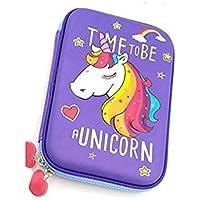 Mistazzo® Unicorn Pencil Case,Unicorn Embossed Hardtop Pencil Case - Kids Large Pen Holder Box with Multi- Compartment…