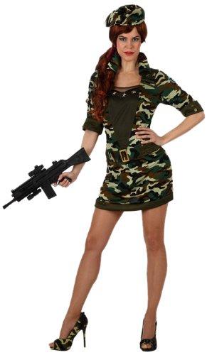 stüm–Kostüm Damen Militärische Camouflage–Größe 1 (Militär Themen Kostüme)