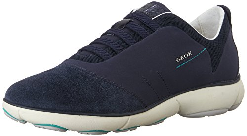 Geox D Nebula C Zapatillas, Mujer, Azul (Navy), 37