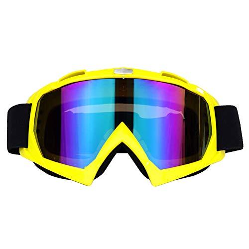 MSYOU Moto Occhiali Motocross Occhiali per Casco antinebbia Antivento Equitazione Occhiali da Sole Protezione UV all' Aperto Bici da Sci e Snowbo