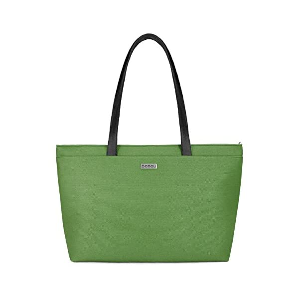 Large green tote bag with light inside. With 6 inside pockets and strap made of recycled seatbelt. - handmade-bags