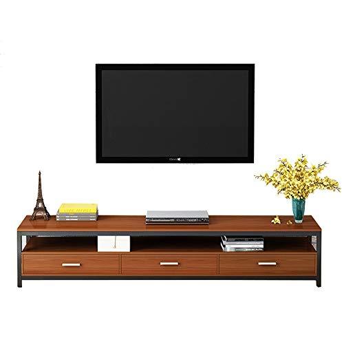 LJPzhp Floating-TV-Ständer TV Wohnzimmer Aufbewahrung TV Media Stand/Tabelle (Farbe : Braun, Größe : 120x40x30cm) -