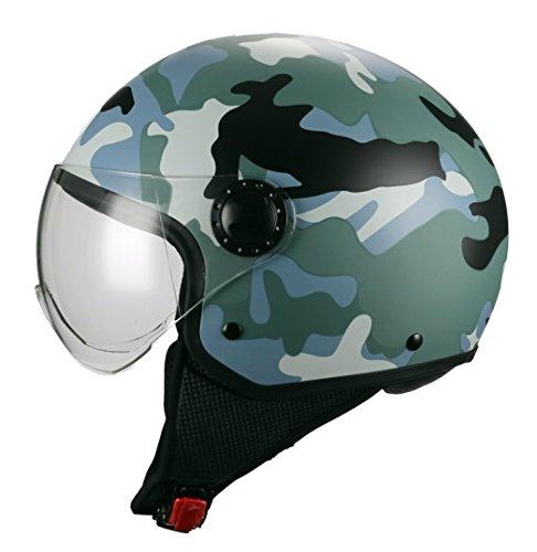 BHR-Casco-Moto-Demi-Jet-Linea-One-801-Camouflage-Grigio-S-5556-cm