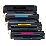 BeOne® Kompatibel HP 410X CF410X CF411X CF412X CF413X Tonerkartusche verwendet für HP Color Laserjet Pro MFP M477fdw M477fnw M477fdn M452dn M452nw M452dw M377dw M377 Drucker, High Yield(4 Pack)