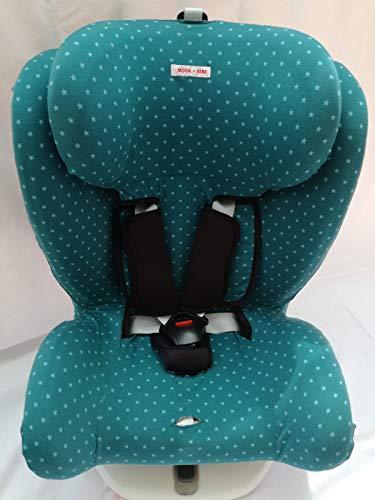 MOON-BEBE FUNDA PARA Star Ibaby - Silla de coche grupo 0+/1/2/3 Baby Auto Fix Noe (GREEN)