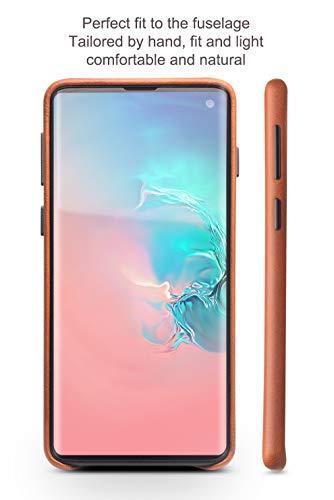 COVO® Coque Samsung Galaxy S10 Plus,Coque arrière pour Affaires Classique,Fait à la Main Etui Premium en Cuir de Vache Coques arrière pour S... 5