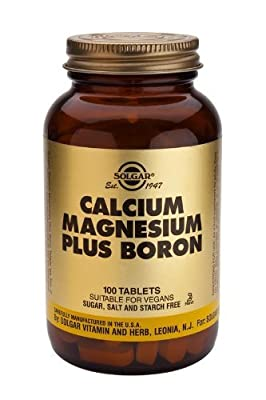 Solgar-Calcium Magnesium plus Boron- 100 Tablets by Solgar Vitamins and Herbs