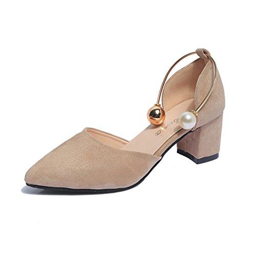 Étée fashion Lady Sandals/Version coréenne avec des chaussures pointues/Lumière talons rugueux A