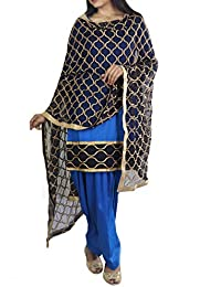 0c96477b91 Nivetas Design Studio Blue punjabi salwar suit for women unstitched salwar  suit for women