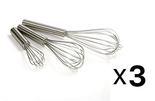 Norpro Balloon WIRE WHISK Set 3 Stainless Steel Stir/Beat 5.75