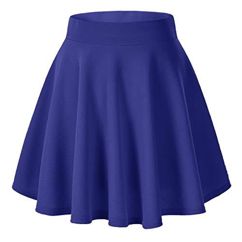 Kleines Renaissance Kostüm Mädchen Im - ➤Refill➤ Röcke für Damen,Damen Mädchen Basic Solid vielseitige dehnbaren informell Mini Skater Rock