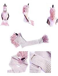 437ed1352ccd4 unicornio sombrero de Peluche chaquetas de invierno Baby Knit bufanda con  un sombrero para bebé niñas