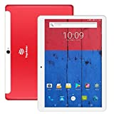 Tablette Tactile 4G , TOPSHOWS Android 7.0 Tablette 10.1 Pouces IPS RAM 2Go Stockage 16Go ( 4G Double Carte SIM,WiFi,GPS,BT4.0 ) Rouge