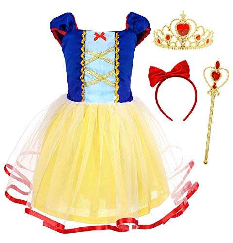 AmzBarley Disfraz Vestido Princesa Blancanieves Niña Tutu Ceremonia,Traje Niña,Disfraz Infantil Fiesta Carnaval...