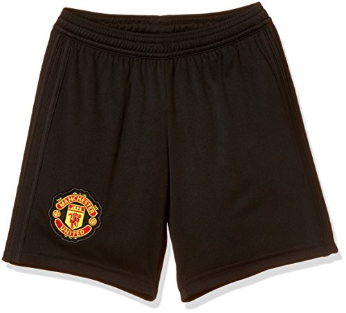 adidas - Maglia a Maniche Lunghe per Bambini del Manchester United FC, Bambino, CG0053, Black/Real Red, Taglia 176