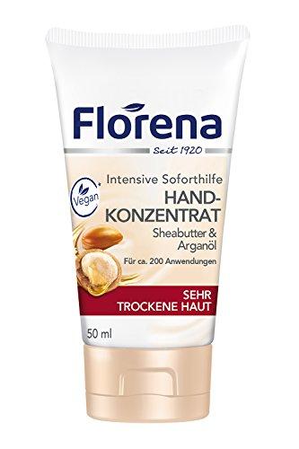 Feuchtigkeit-reichhaltige Hand-waschen (Florena Hand-Konzentrat mit Sheabutter und Arganöl, Vegan, 1er Pack (1 x 50 ml))