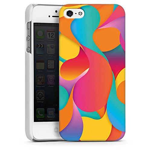 Apple iPhone 5s Housse Étui Protection Coque Bulles Bulles Arc-en-ciel CasDur blanc