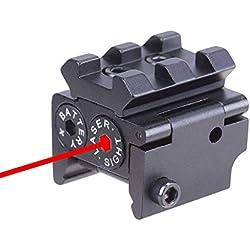 Huntiger Tactique Mini Pistolet Laser Réglable Red Dot Sight Compact Fit Rail Mount 20mm Chasse Scopes Airsoft Lunettes de Visée