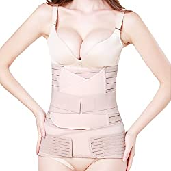 3 in 1 Postpartale Unterstützung - Recovery Bauch/Taille/Becken Gürtel-Taille Gürtel, Hautfarbe, one Size für Taille 66-99cm