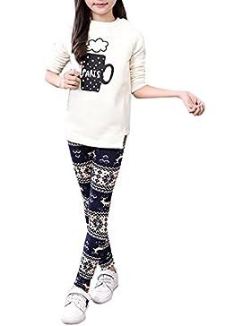Covermason Niña Lindo Navidad Impresión Leggings Elástico Pantalones para 1-13 Años