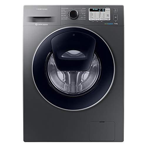 SamsungAddwash ecobubble WW70K5413UX/EU Freestanding Washing Machine, 7Kg Load, 1400rpm Spin, Graphite