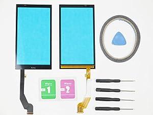 Neu Display Scheibe Touchscreen Digitizer Glass Ersatz für HTC Desire 816 816G Schwarz + Werkzeug & Doppelseitig klebende + Reinigung Alkohol Tasche
