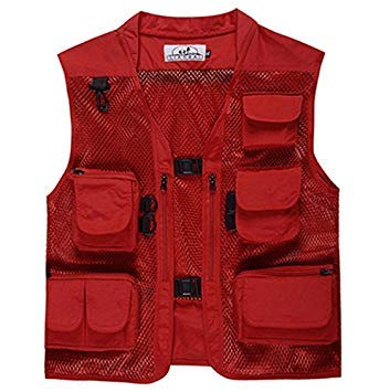 primetraders Red, XXL : Outdoor Camouflage Fly Fishing Vest Life Jacket Quick Dry Mesh Fishing Vest M L XL XXL XXXL Photography Vest Fishing Tackle Mesh-fly Fishing Vest