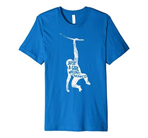 Nur ein Mädchen, die loves Affen Funny T-Shirt Affe ()