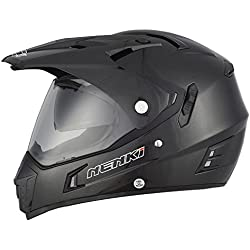 NENKI Casco Enduro Motocross Adventure con Doble Visera NK-311 · Cascos de Moto Dual Sport Hombre · ECE Homologado