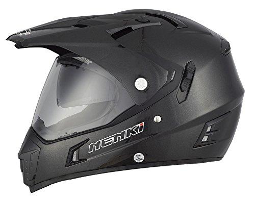 NENKI Casco Integrale Motocross NK-311 con Doppia Visiera, per Fuoristrada,Omologazione ECE