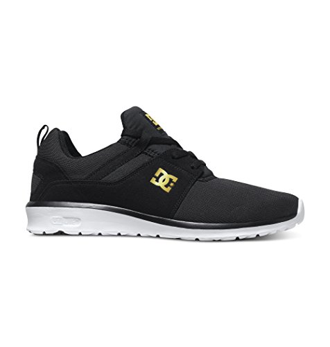 DC Shoes Heathrow Se J, Baskets Basses femme Noir (Black/Gold)