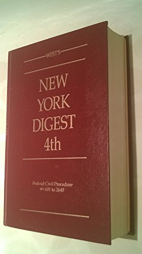 West's New York Digest 4th Volume 22 Federal Civil Procedure 601 to 1950