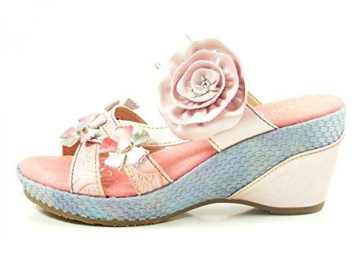 Laura Vita SL3036-5A Beaute 05 Schuhe Damen Sandalen Keil Pantoletten Rosa  [B06XG3JM8C]