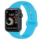 AK kompatibel mit für Apple Watch Armband 42mm 38mm 44mm 40mm, Weiche Silikon Sport Ersatz...