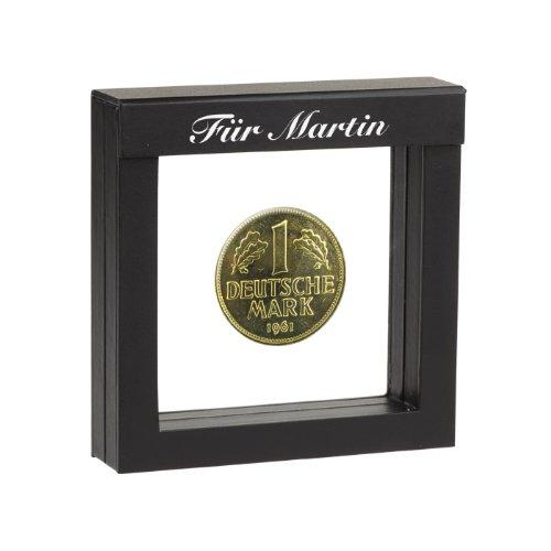 1 DM-Münze 1978 vergoldet - mit Ihrer persönlichen Gravur auf dem Schwebe-Rahmen (1978 Münze)
