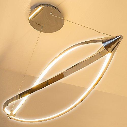 Lu-Mi® LED Pendelleuchte Höhenverstellbar Küchen Deckenleuchte Wohnzimmer Designleuchte Deckenlampe Schlafzimmer Modern (Sunset Lina) - 3