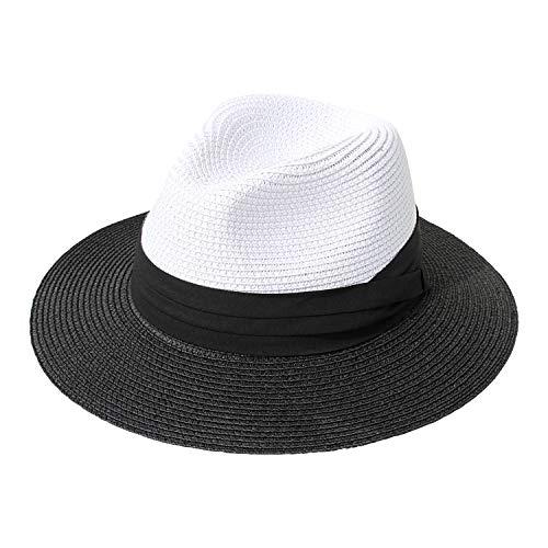 r Krempe Stroh Sommer Panama aufrollen Hut Fedora Strand Sonnenhut UPF 50 + ()